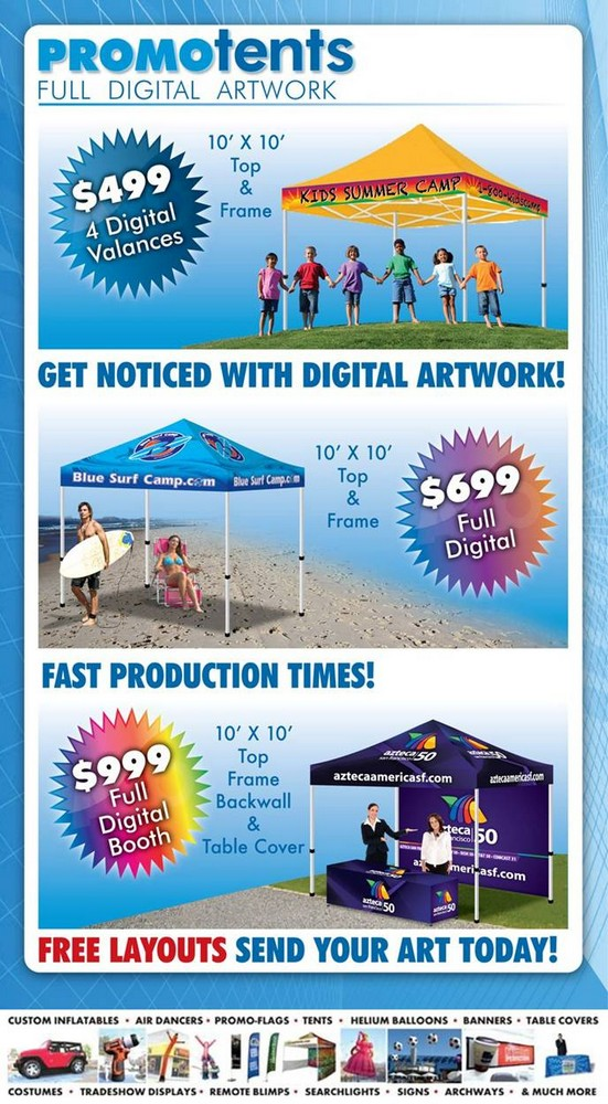 Custom Digital Print Promo Tents